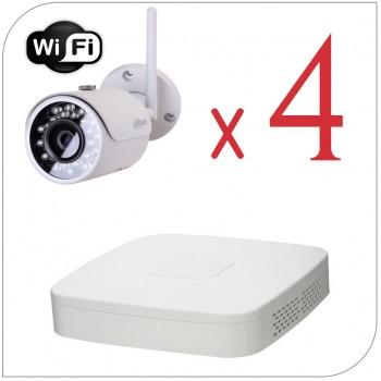 Комплект Wi-Fi видеонаблюдения на 4 камеры