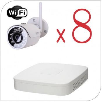 Комплект Wi-Fi видеонаблюдения на 8 камер