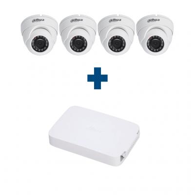 Комплект IP 4 купольные камеры Dahua IPC-HDW1020SP-S3-0360