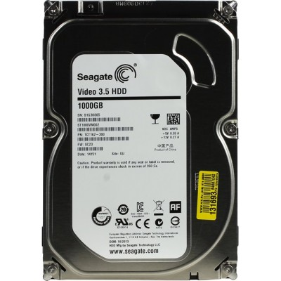 Жесткий диск Seagate Video 3.5 HDD 1 Тб ST1000VM002 SATA