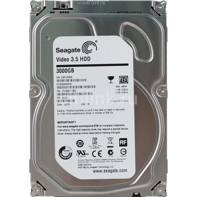 Жесткий диск SEAGATE Video ST3000VM002, 3Тб, HDD, SATA III, 3.5""